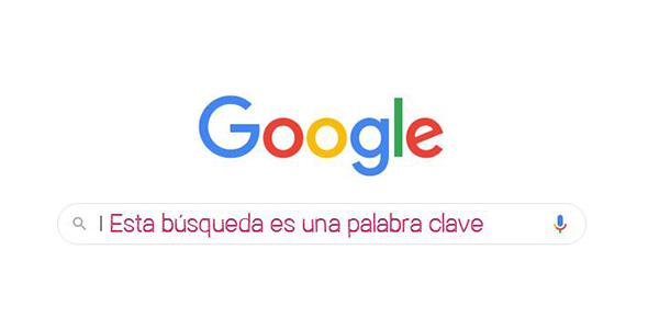 Las búsquedas en Google son palabras clave