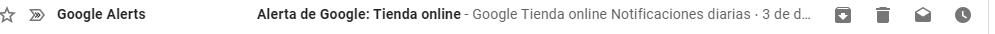 así se ve una alerta de Google en tu Gmail